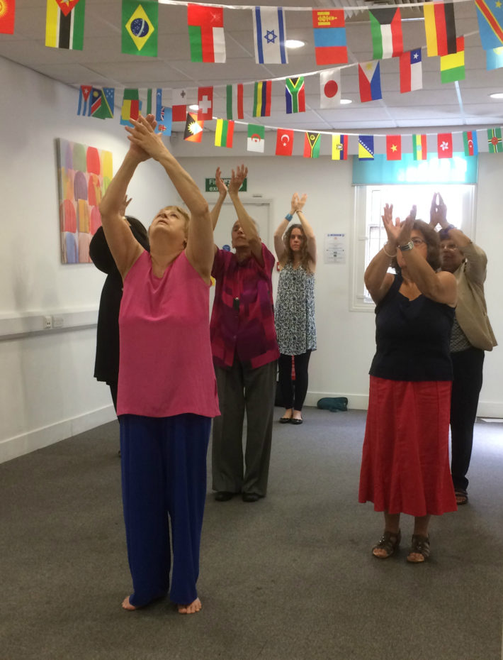 carers performing Indian dance