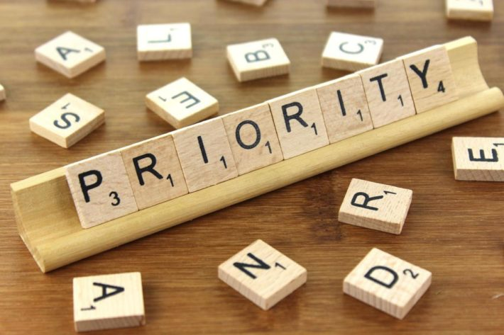 priority in letters