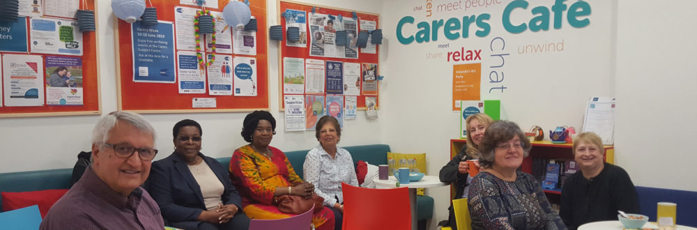 carers sitting in Carers Cafe